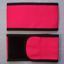 Plain Wrap Armband - Fuschia Pink & Black